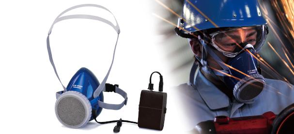 電動ファン付呼吸保護具(半面マスクタイプ)