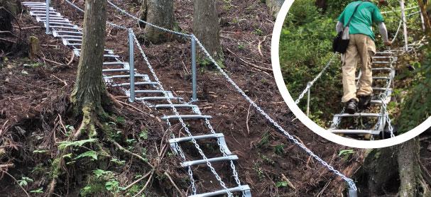 簡易設置式くさり階段『逃げるんだ・登るんだ』
